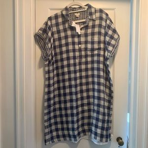 J.Crew Gingham Linen Shirtdress